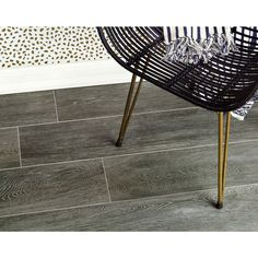 Montana Anthracite 8x45 Natural Wood Look Porcelain Tile