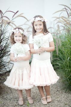 Look at these beautiful #ballerina #flowergirl friends! #toocute For more flower girl tips, tricks, inspiration & ideas, be sure to visit us at www.flowergirlworld.com!