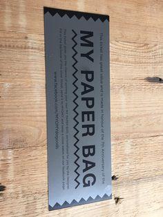 Silver ticket - MY PAPER BAG - Myomy do goods