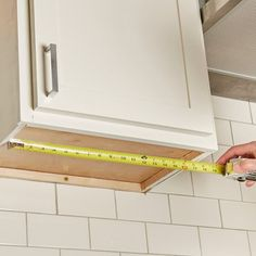 How to Build an Under-Cabinet Drawer (DIY) | Family Handyman Stock Cabinets, Diy Kitchen Cabinets, Kitchen Cabinet Organization, Built In Cabinets, Upper Cabinets, Wood Cabinets, Kitchen Ideas, Cabinet Ideas, Drawer Ideas