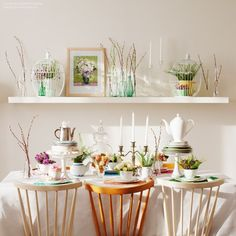 mesa posta para o chá de bebê