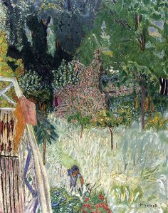 Great paintings by Pierre Bonnard. Bonnard was a french painter and printmaker, as well as one of the foundin. Pierre Bonnard, Paul Gauguin, Garden Painting, Painting & Drawing, Landscape Art, Landscape Paintings, Van Gogh, Städel Museum, Felix Vallotton