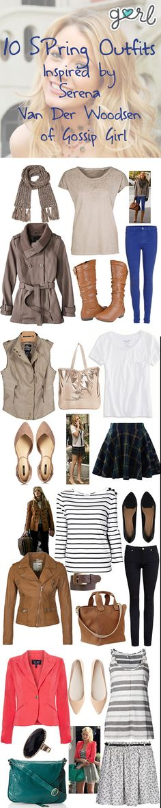 10 Cute Spring Outfits Inspired By Serena Van Der Woodsen Of Gossip Girl