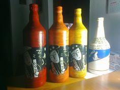 nordestinos na garrafa e bandeira local