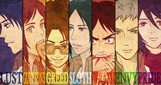 The Seven Deadly Sins as AoT/SnK characters. But... how is Hanji greed?