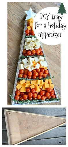 This beautiful appetizer needed a base so here is what I did to create a tray for this appetizer so it can be transported!