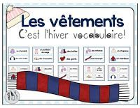 French Winter Clothing Vocabulary Freebie Friday by Voila. This Freebie Friday has an English version! Click the page and scroll down for the English link. French Teaching Resources, Teaching French, Teaching Tools, Phonics Activities, Winter Activities, Christmas Activities, French Worksheets, French Language, Foreign Language