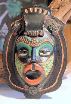 Vintage Vibrant Cuban Wall Mask by AntiqueAlchemists on Etsy, $45.00
