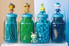 Boy's Octonauts Birthday Party Candy Jar Ideas