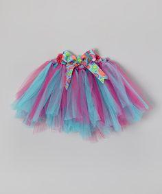 Turquoise & Pink Paisley Bow Tutu - Infant & Girls