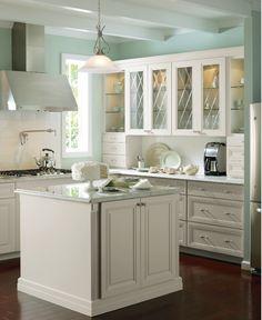 Martha Stewart at Home Depot. Beautiful kitchen.
