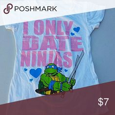 Cute fun Ninja Turtles t-shirt My daughter would not wear this :( Super cute! I also have a matching one for Mommy if she wants one!? Shirts & Tops Tees - Short Sleeve