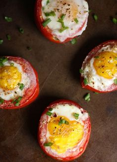 baked tomato egg cups