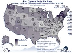 State cigarette tax rates