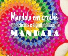 Mandalas crochet, benefits and meanings Mandala Crochet Table Runner, Love Crochet, Crafty Craft, Yarn Crafts, Needlepoint, Paper Flowers, Free Pattern, Arts And Crafts, Knitting