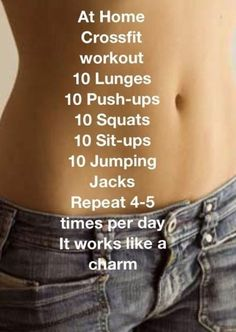 At Home Cross fit#Health&Fitness#Trusper#Tip