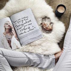 Magazine // flatlay, snack, lazy days