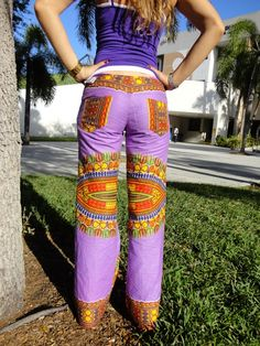 Pants Hippie handmade Design by Sara Molano Cotton Wide Legs Woodstock Clothing $25.00
