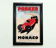 Custom Retro Style Racing Poster  11x17 by MeltonGraphics on Etsy, $29.00