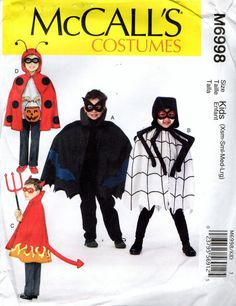 McCall's 6998 HALLOWEEN CAPES Spider Ladybug by PatternPeddler