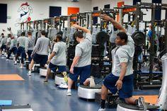 Denver Broncos movement preparation on the Power Plate