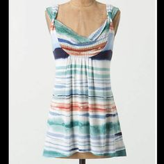 """Vanessa Virginia Sz S Multi Color Knitted Tank Top Vanessa Virginia AnthropologieSz S Multi Color Knitted Tank Top Bust 32-34  Length 23 1/2"""" Rayon Excellent used condition Anthropologie Tops"""