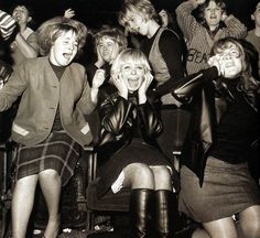 Screaming fans of the pop group 'The Beatles', at one of their concerts in Manchester. UK - 21 November 1963