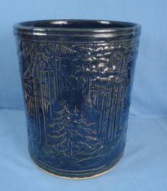 Ultra Rare RRPco Robinson Ransbottom Pottery Cobalt Blue Floor Jar PRISTINE