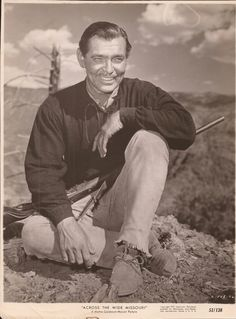"Clark Gable ""Across The Wide Missouri"" 1951"