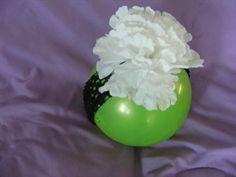 white flower, black crochet headband