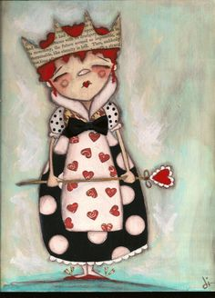 Red Queen - Alice in Wonderland. ideas for a mural on the wall of the backyard tool shed