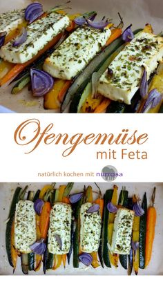 Ofengemüse mit Feta #lowcarb #abnehmen #Rezept #kochen #natürlich
