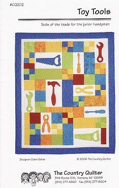 The Virginia Quilter - Quilting Patterns - The Country Quilter - Toy Tools Quilt Pattern