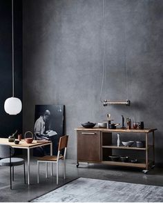 KABE wall decor: KABE in the shade of Cold Steel looks stunning on this photo spotted in @bobedredk styled by @leneostenfeldt ✨Photo Anders Schonnemann. Read more about us here: www.kabecopenhagen.com