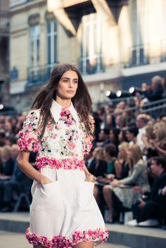 CHANEL's bringing florals back, yep. http://www.thecoveteur.com/chanel-springsummer-2015/?hvid=3wx4wR
