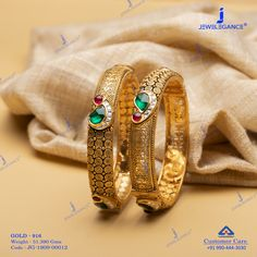 Intricate detailing gold and unique designs. Gold Ring Designs, Gold Bangles Design, Gold Jewellery Design, Gold Jewelry, Gold Necklace, Buy Jewellery Online, Bangle Bracelets With Charms, Baby Jewelry, Touch