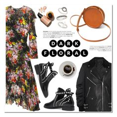 """""""In Bloom: Dark Florals"""" by helenevlacho ❤ liked on Polyvore featuring Preen, Alexander Wang, Alaïa, Sara Barner, Topshop, contestentry and darkflorals"""