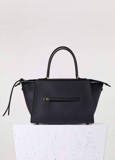 bb4f8e3bf7c0 Small Ring Bag in Black Bullhide Calfskin - Céline