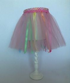 Plaid lampshade for sale yellow orange purple buy lamp shades girls tutu lamp shade personalized gift for kids custom lamp shade for a girl aloadofball Image collections