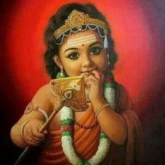 Lord Muruga is widely worshiped by many from all around the world. He is the son of Lord Shiva and Goddess Parvati and is the younger brother of Lord Ganesha. Shiva Art, Shiva Shakti, Krishna Art, Radhe Krishna, Shri Hanuman, Krishna Leela, Shree Ganesh, Krishna Painting, Hindu Art