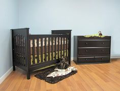 Braxton crib in espresso.  #braxton #crib #baby #nursery #babysdream