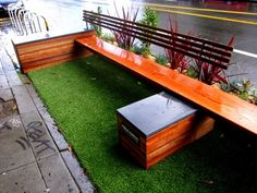 The concept of turning urban parking spaces into social parklets is gaining popularity in several cities worldwide.