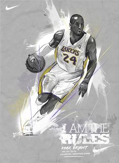 Kobe Bryant Nike ad by Andre Pessel, via Behance.