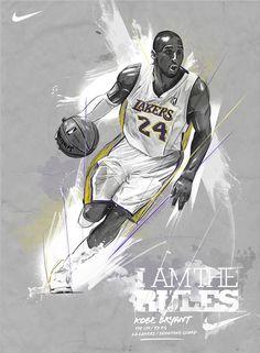 Kobe Bryant Nike ad by Andre Pessel, via Behance.