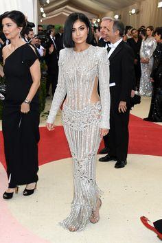 Kylie Jenner in Balmain F16 (Look 44) at Met Gala 2016