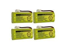 4 Cordless Home Phone Battery for ATT BT184342 BT28433 (Bulk Packaging)