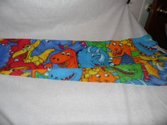 Scarf Colorful Dino Fleece Scarf #Handmade #Scarf