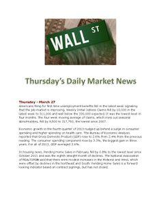 Todays Market News www.equitysourcemortgage.com