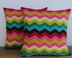 Two Waverly Panama Wave Desert Flower pillow covers, cushion, decorative throw pillow, decorative pillow, accent pillow, pillow case
