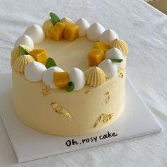 Delicous Desserts, Fancy Desserts, Cupcakes, Cupcake Cakes, Pastel Cakes, Mango Cake, Easy Cake Decorating, Cake Business, Dessert Decoration